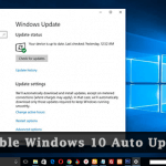Windows 10 Update: How to disable windows 10 auto update