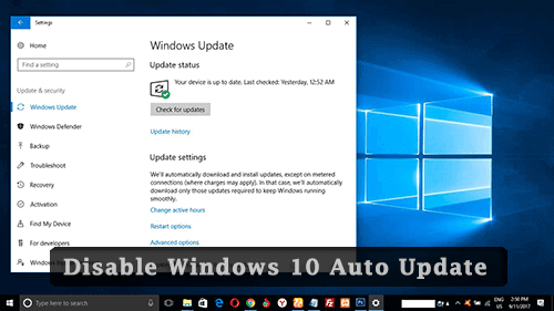 disable-automatic-updates-windows 10