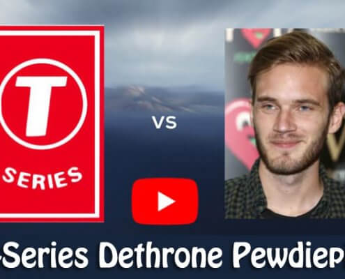 T-Series Dethrone Pewdiepie as The number one Youtube Channel
